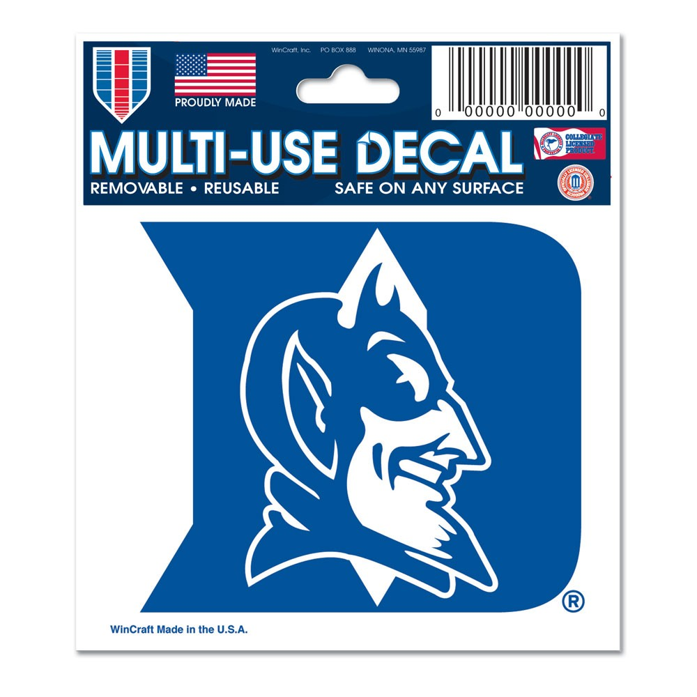 Duke Blue Devils Official NCAA 3 inch x 4 inch  Car Window Cling Decal by WinCraft