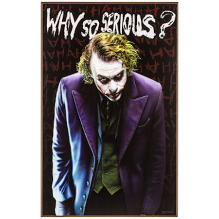 Why So Serious Joker Wood Wall Art Home Decoration Theater Media Room Man Cave](Joker Decorations)
