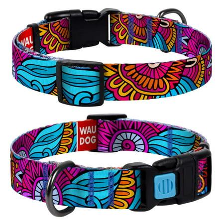 "COLLAR America   WAUDOG Nylon   Multicolor Dog Collar, Pattern ""Summer"""