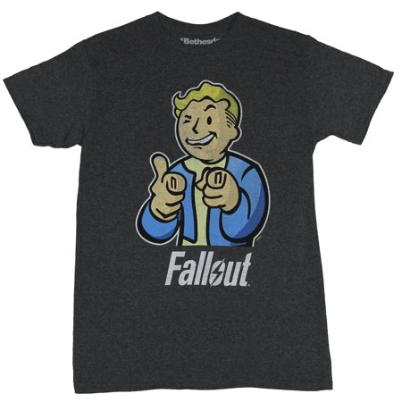 Fallout  Mens T-Shirt -  Distressed Pointing Thumbd up Pip Boy Vault Image](Fallout Vault Jumpsuit)