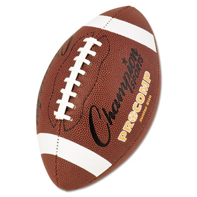 "Pro Composite Football, Junior Size, 20.75"", Brown, Sold as 1 Each"