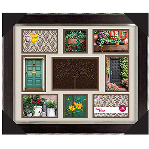 "Better Homes & Gardens 16"" x 20"" Family Tree Collage Frame, Espresso with Silver"