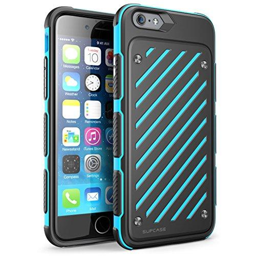 """SUPCase Apple iPhone 6 4.7"""" Case - Unicorn Beetle S Series Two Layer Slim Armored Hybrid PC + TPU Cover - Blue Black"""