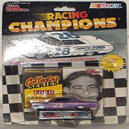 Racing Champions Nascar #22 Fireball Roberts Stock Car/Collector Card/Stand](Nascar Toy Cars)