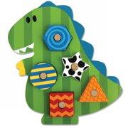 Dino Shaped Wooden Peg Puzzle by Stephen Joseph - SJ1066-59