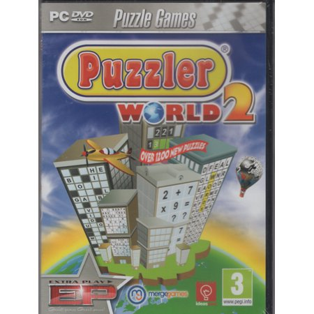Puzzler World 2 (PC Game) Over 1200 Puzzles Crossword Wordsearch Sudoku Hangman Hide & Seek Backwords Pieceword Add-Up (Puzzle Games For Computer)