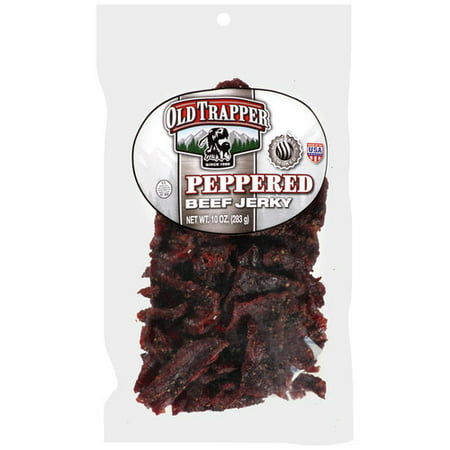 Old Trapper Peppered Beef Jerky, 10 Oz. (Best Selling Beef Jerky)