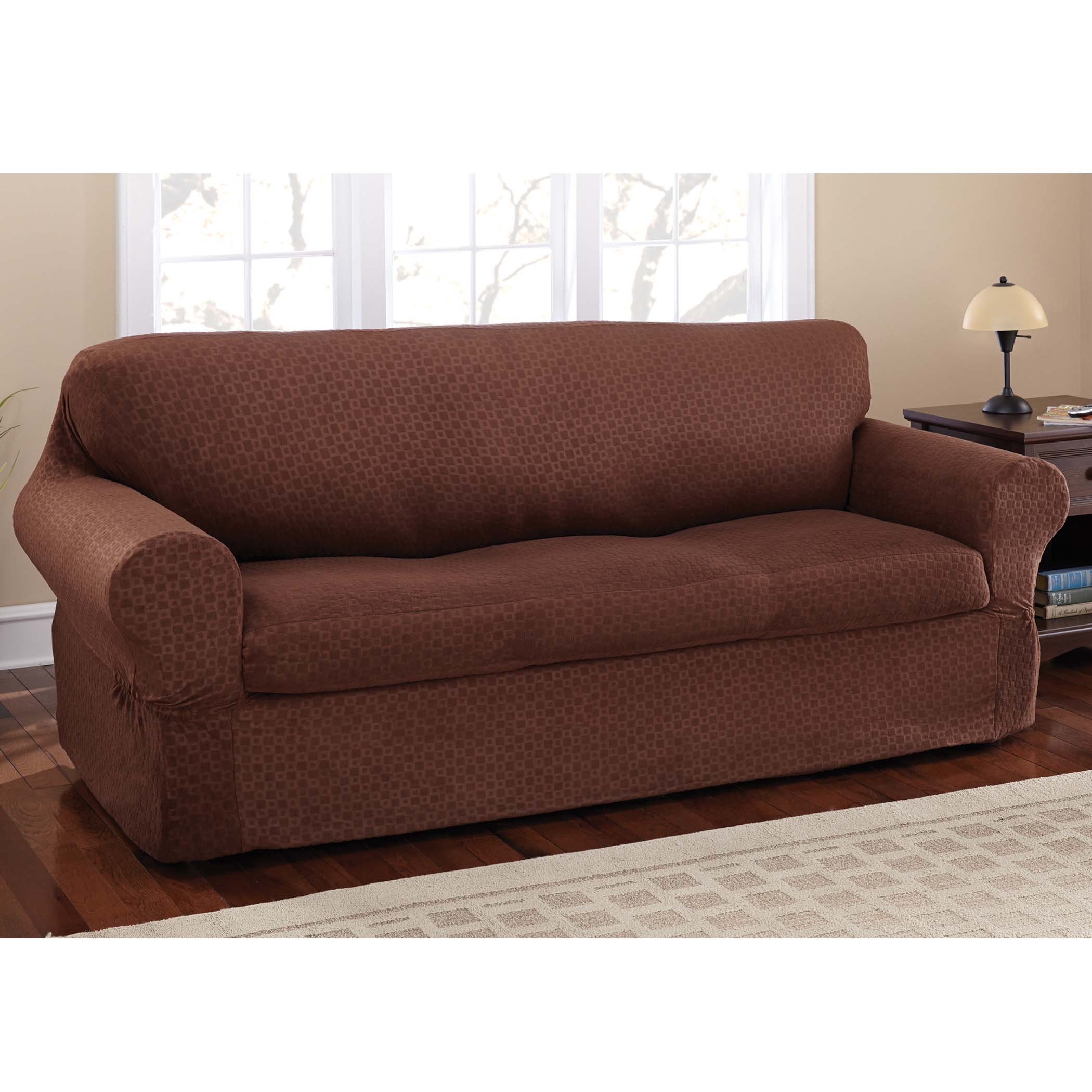 Mainstays Stretch Conrad 2 Piece Sofa Furniture Cover Slipcover