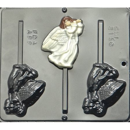 2130 Angel with Flute Lollipop Chocolate Candy (Fluted Boat Mold)