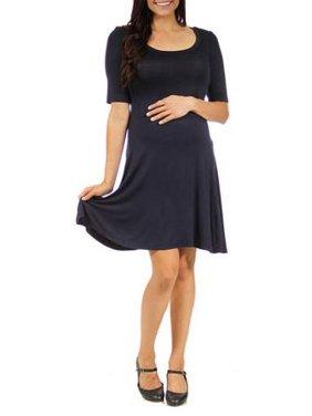 Women's 3/4-sleeve Maternity Dress