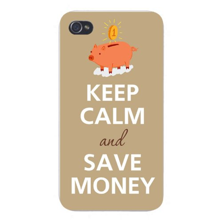 Apple Iphone Custom Case 5 5s AND SE Snap on - Keep Calm and Save Money w/ Coin & Piggy (Best Way To Save Money In Bank India)