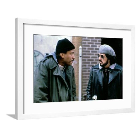 NIGHTHAWKS, 1981 directed by BRUCE MALMUTH Billy Dee Williams and Sylvester Stallone (photo) Framed Print Wall Art