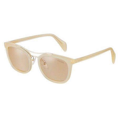 Prada PR17QS-R069N1 Society Yellow Frame / Brown Lens 52mm Sunglasses New In (Society Sunglasses)