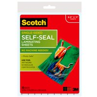 "Scotch Self-Seal Laminating Pouches, 10 Count, 8.5"" x 11"""