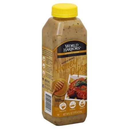 Honey Dijon Mustard - World Harbors® Mont St. Michael Honey Dijon Sauce & Marinade 16 fl. oz. Bottle
