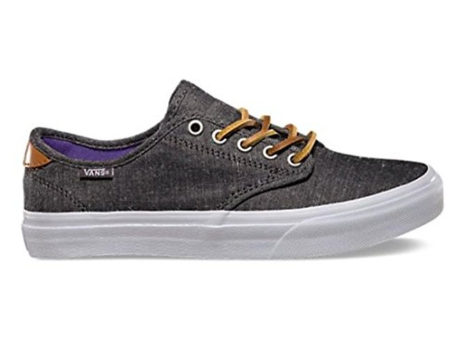 Vans Womens Camden Low Top Lace Up Fashion Sneakers, Black, Size 9.5