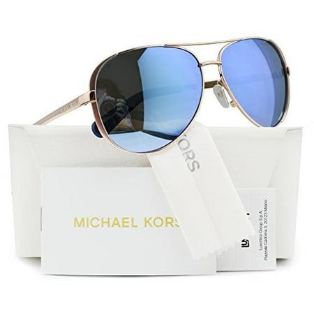 0ce82b31f8 Michael Kors - Michael Kors MK5004 Chelsea Polarized Sunglasses Rose Gold  w Purple Mirror (1003 22) MK 5004 100322 59mm Authentic - Walmart.com