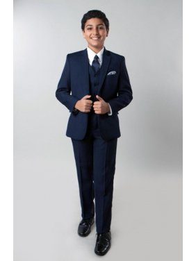 a737d7ae1 Product Image Boys Suit Set Solid 5 Piece Including Matching Dress Shirt  and Tie By Tazio
