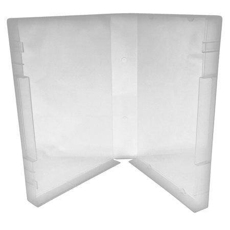 CheckOutStore 4 Clear Storage Cases 35mm for Rubber Stamps /w Tabs (No Hub) - Halloween Clear Stamps