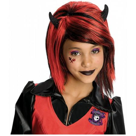 Girls Drama Queens Devilish Devil Wig
