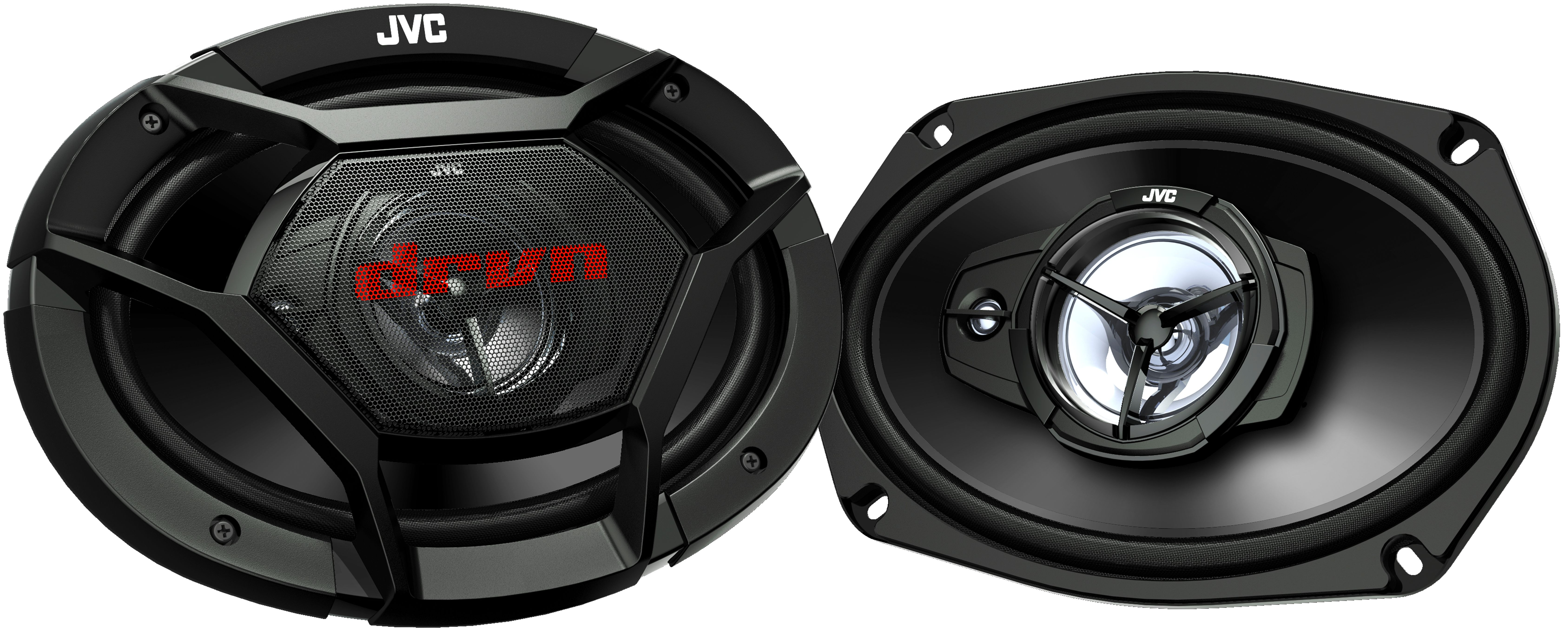 Bundle Combo with 2X JVC 6x9 3-Way Vehicle Coaxial Speakers Amp Kit Pioneer DEH-S4100BT Car Bluetooth Radio USB AUX CD Player Receiver 2X 6.5 Inch 2-Way Audio Speakers 4-Channel Amplifier
