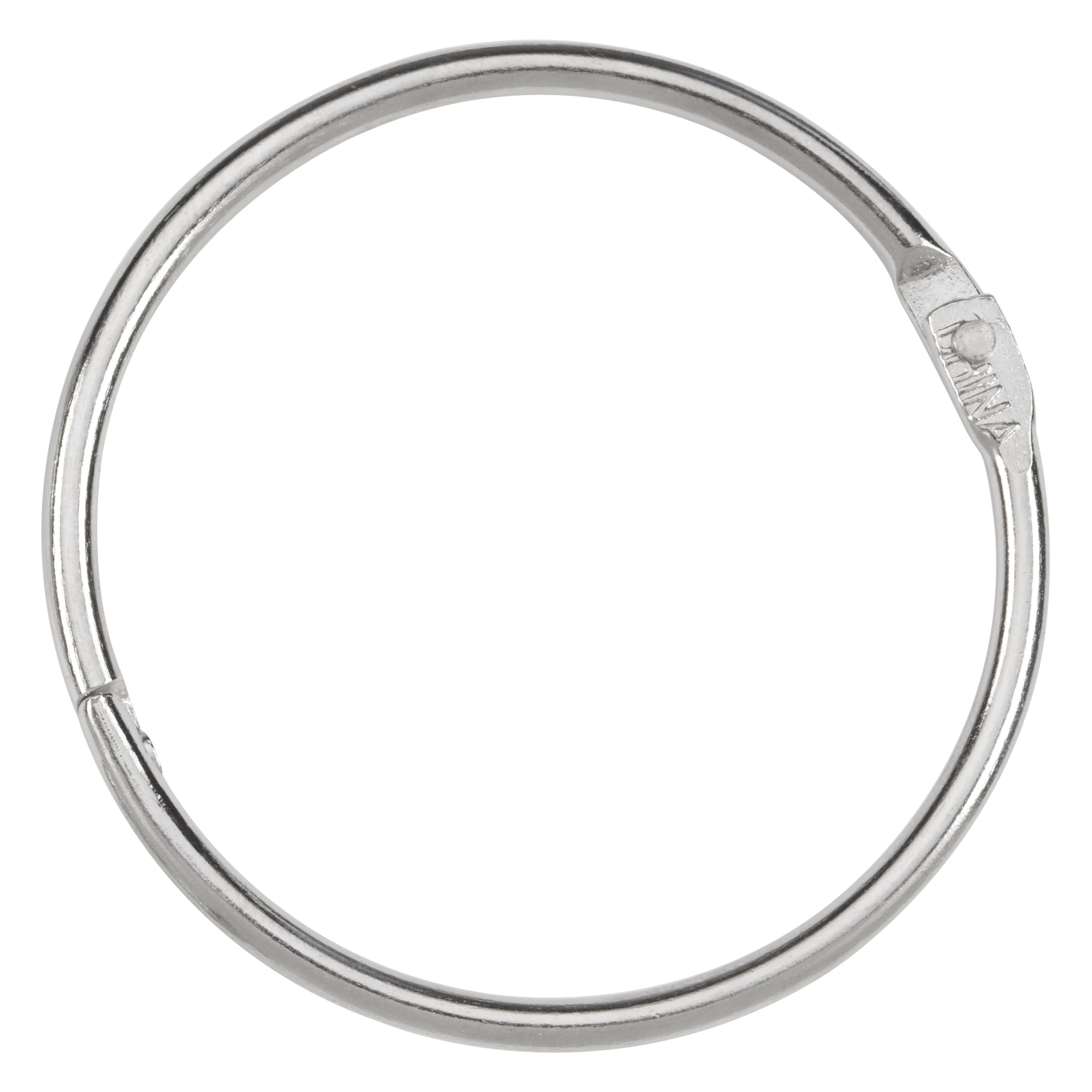 "ACCO Loose Leaf Rings, 2"" Capacity, Silver, 50/Box (A7072205)"