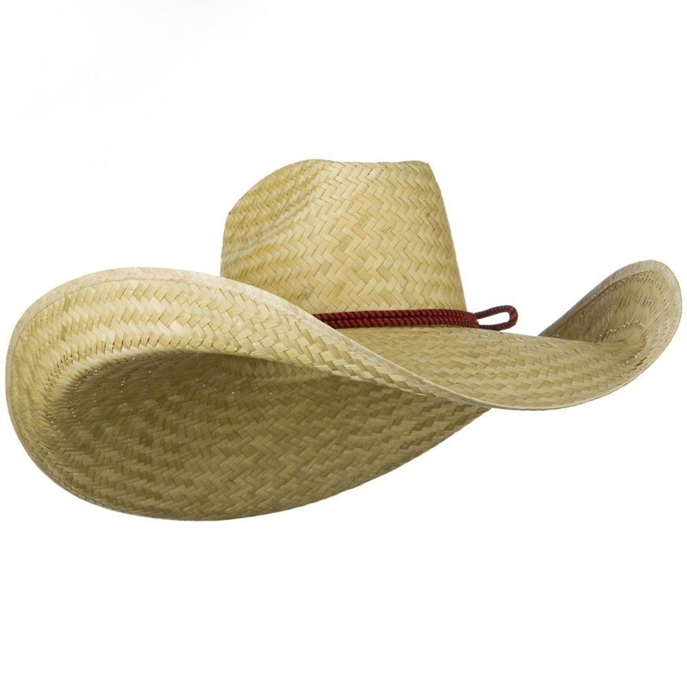 a95ed02d6 Oversized Waster 7 Inch Brim Hat Giant Jumbo Natural Straw Cowboy Western  Hat