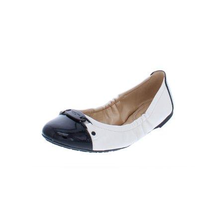 MICHAEL Michael Kors Womens Joyce Leather Lightweight Ballet (Michael Kors Charm Flats)