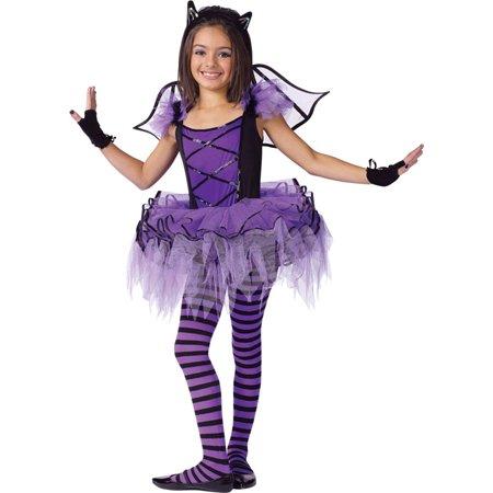 Morris Costumes Girls New Classic Halloween Bats Tutu Costume 12-14, Style FW114152LG