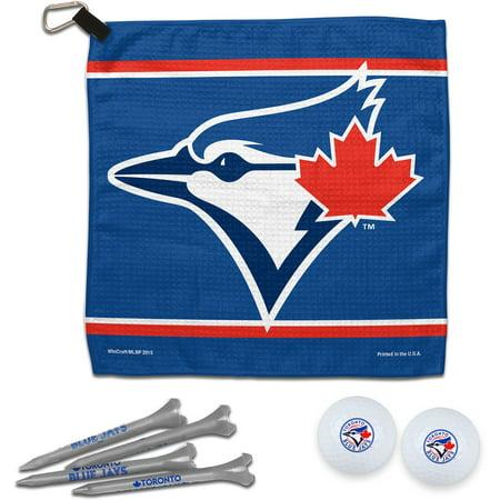 Toronto Blue Jays WinCraft Towel, Golf Balls & Tees Gift Set - No (Toronto Blue Jays Golf Ball)