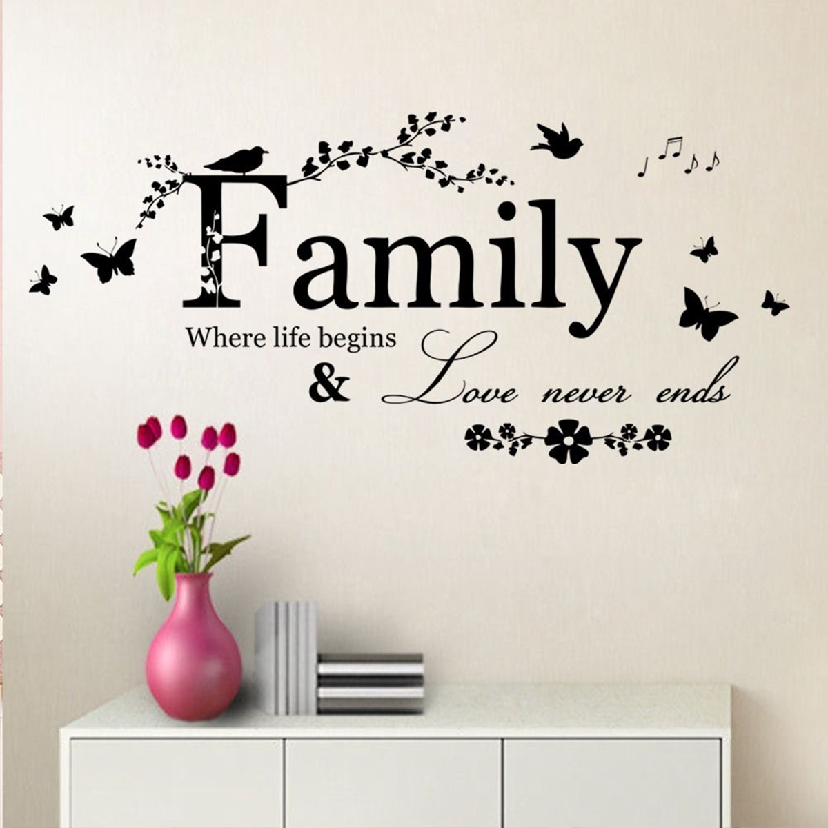 Balloon Bike Mural Wall Sticker Home Kitchen Room Decal Decoration Accessories
