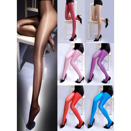 Cheap Red Tights (Fashion Women Sheer Oil Shiny Glossy Classic Pantyhose Sexy Tights Stockings)