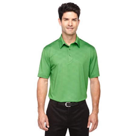 Ash City - North End Sport Red Men's Maze Performance Stretch Embossed Print Polo - VALLEY GREEN 448 - XL 88659