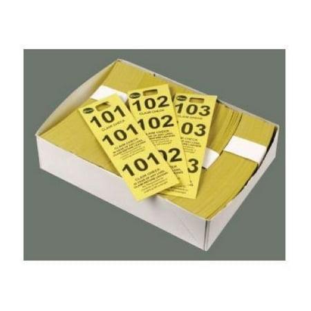 Coat Check Tickets, Blue, 500pcs/box, Set of 5 - Raffle Boxes