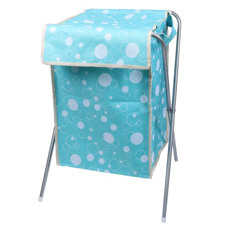 Folding storage bin dirty clothes washing laundry basket hamper sky blue - Hamper for dirty clothes ...