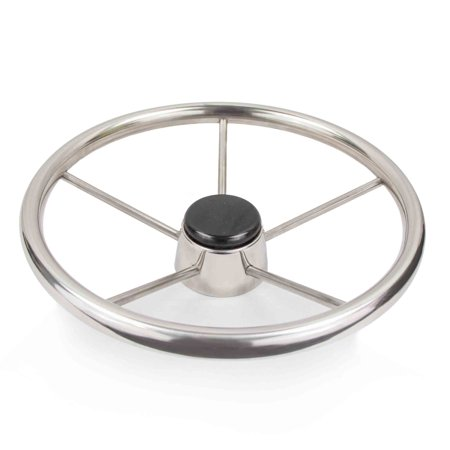 Five Oceans Destroyer Style Boat Steering Wheel w/ Tapered Shaft FO-580