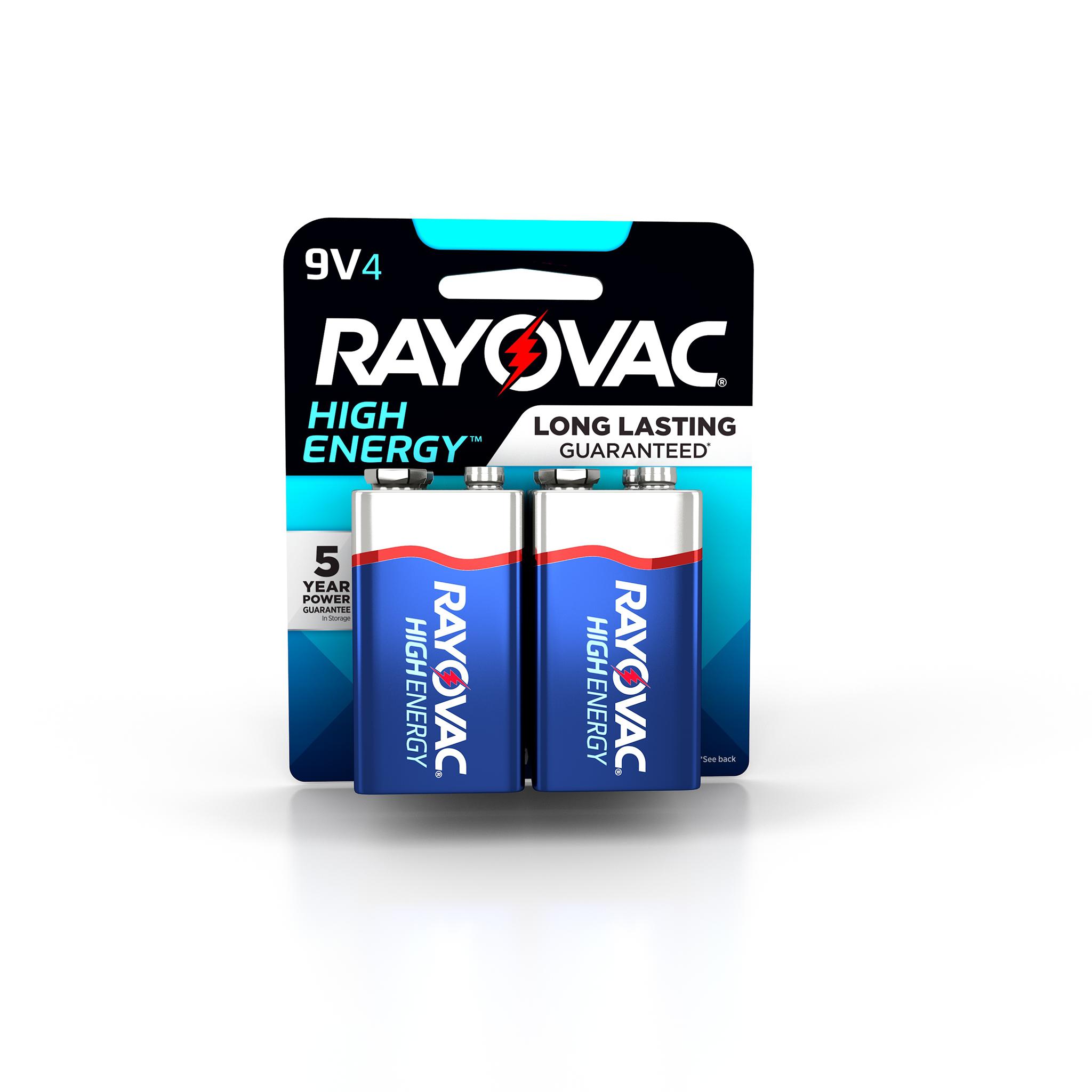 Rayovac High Energy Alkaline, 9V Batteries, 4-Pack