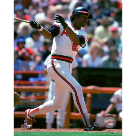 Rod Carew 1982 Action Photo (1982 Photo Press)
