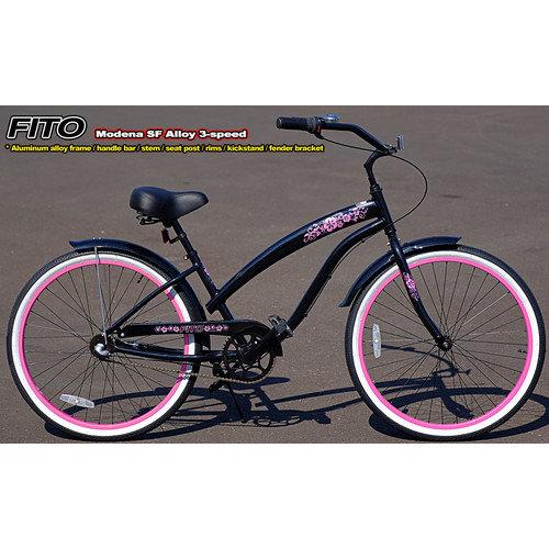 Fito Women's Modena EX Alloy Shimano Nexus 3-Speed Beach Cruiser Bike