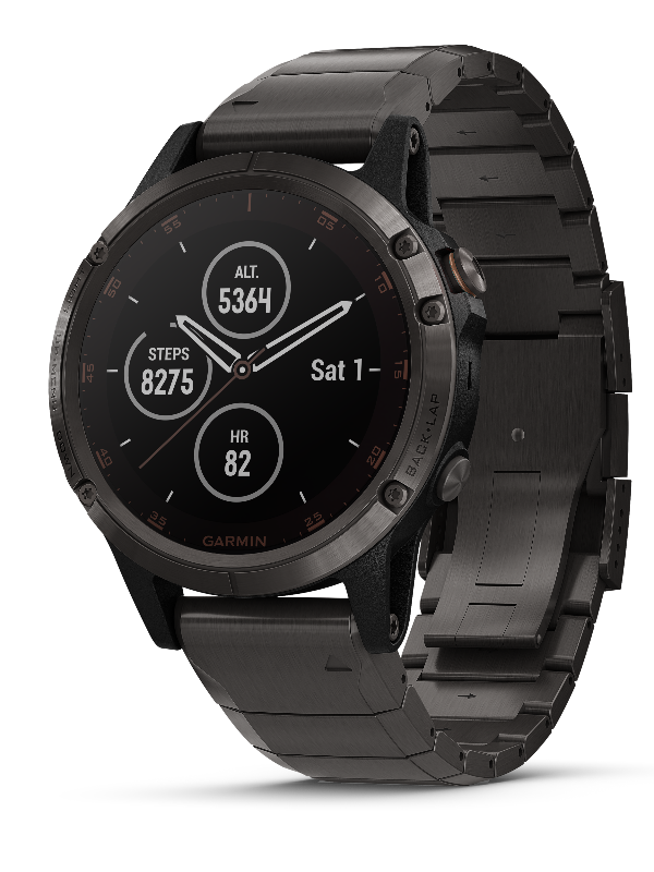 Garmin Fenix 5 Plus Sapphire, Carbon Gray DLC Titanium with DLC Titanium band by Garmin