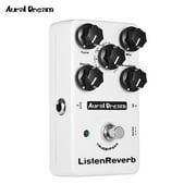 Aural Dream Listen Reverb Guitar Effect Pedal with 8 Rever Effects True Bypass Guitar Pedals