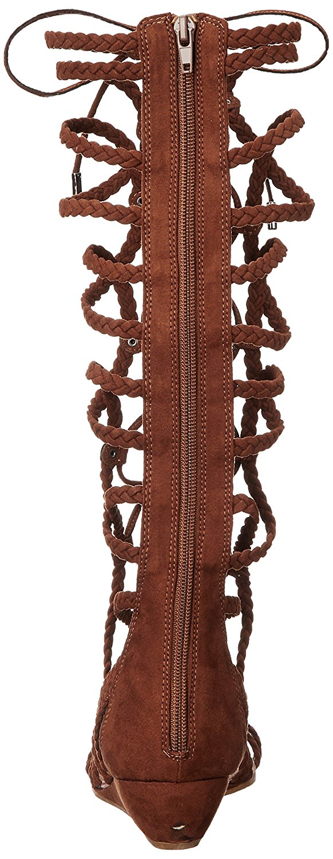 Womens Carlos by Carlos Santana Kalee Knee High Braided Gladiator Sandals - Mustang