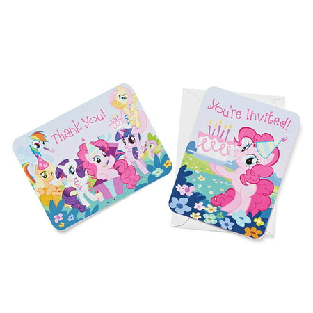 My Little Pony Party Invite and Thank-You Combo Pack, 8ct - My Little Pony Birthday Party Theme