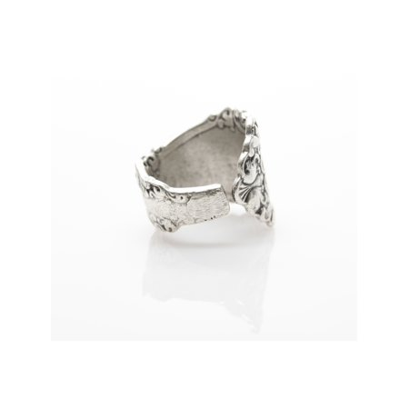 Wave Antique Silver Plated Adjustable Ring