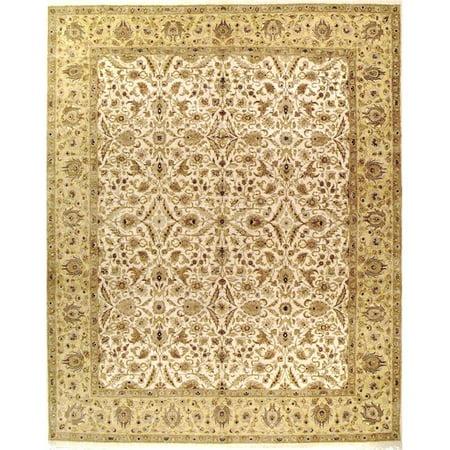 Due Process Stable Trading Kashmir Tabriz Ivory & Gold Area Rug, 6 x 9 ft. - image 1 de 1