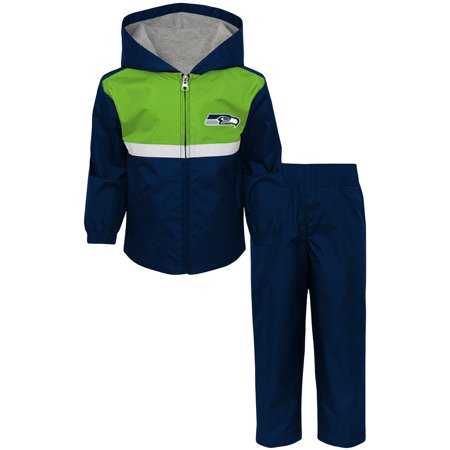 Toddler College Navy/Neon Green Seattle Seahawks Full-Zip Jacket & Pants - College Jackets