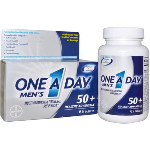 One-A-Day Men's Advantage 50+ Multivitamin 65 ea (Pack of 4)