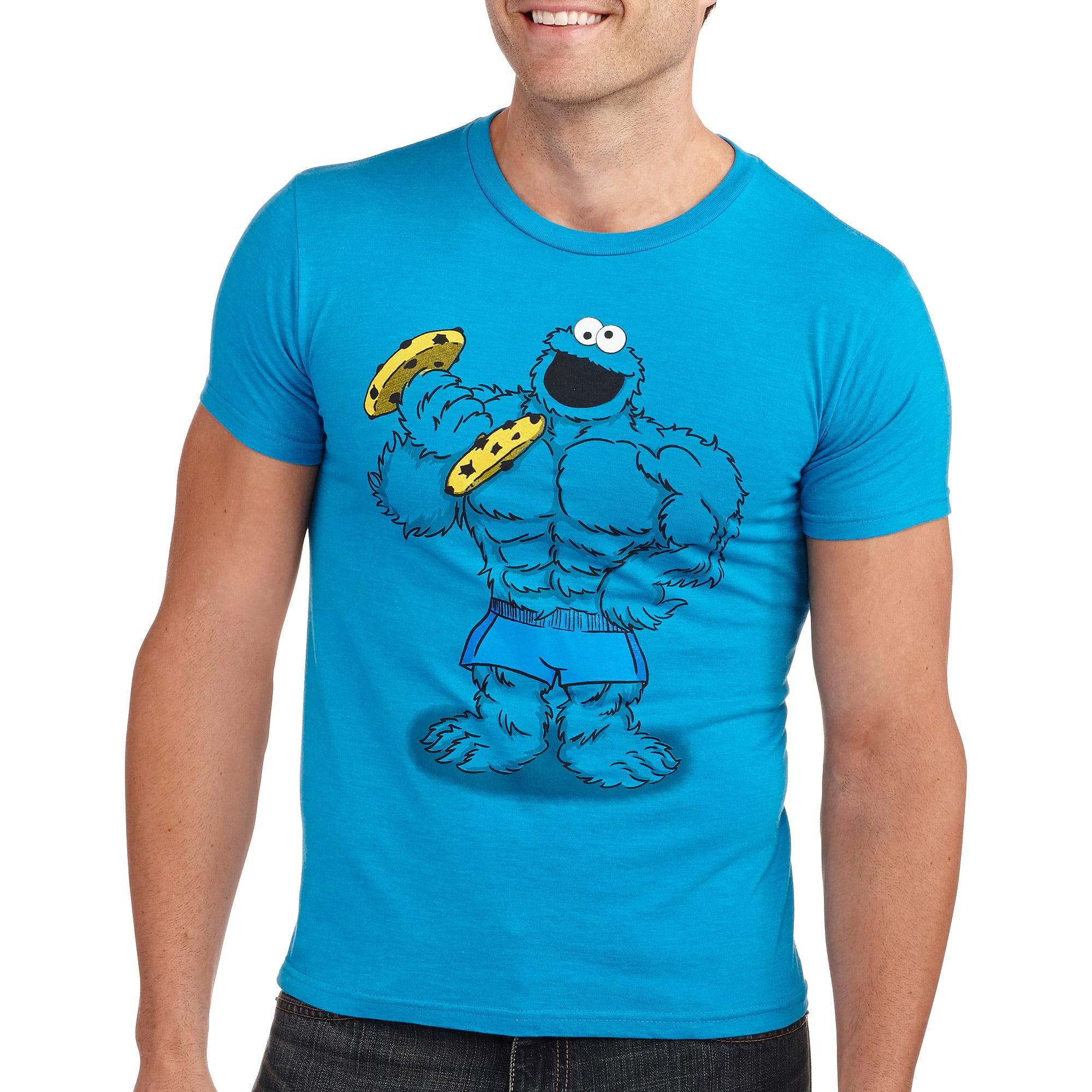 Buff cookie monster Men s graphic tee Walmart