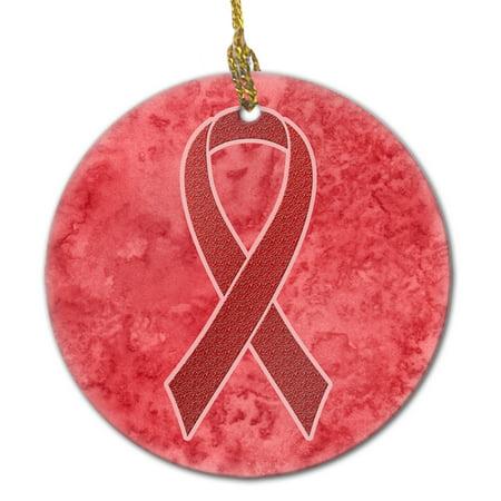 Red Ribbon for Aids Awareness Ceramic Ornament - Aids Awareness Ribbon