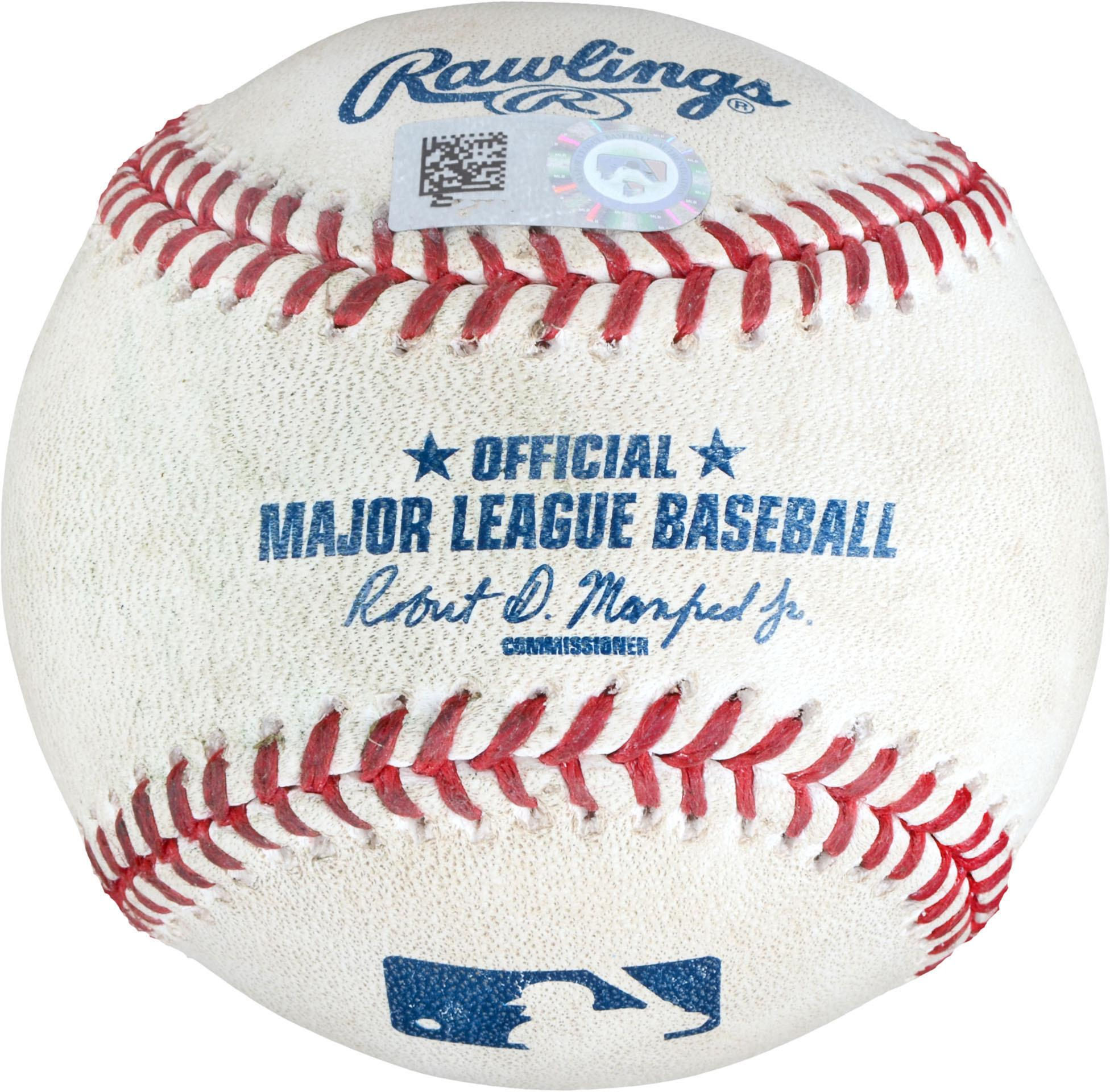Giancarlo Stanton New York Yankees Game-Used Double Baseball vs. Oakland Athletics on September 5, 2018 - Fanatics Authentic Certified